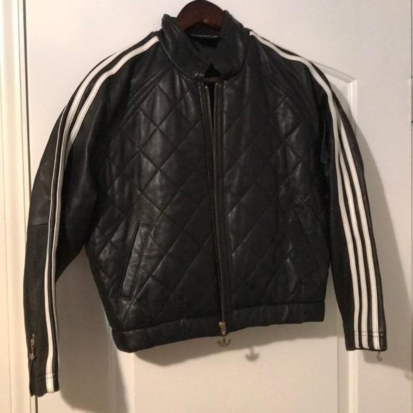 adidas Jackets & Blazers - Adidas LEATHER track jacket WOW
